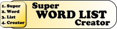 Super Word List Creator Logo